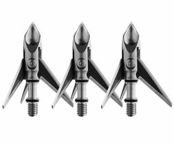Ramcat Hydroshock Pivoting Broadheads – 100 Grain, Silver/