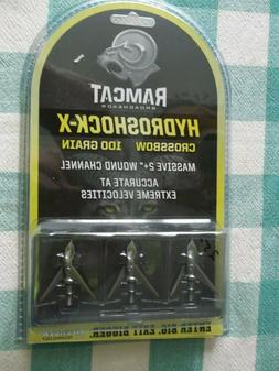 Ramcat Hydroshock X Crossbow Broadheads 100 Grain 3 per Pack