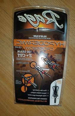 "Rage Hypodermic CROSSBOW 100 Gr. 2""+ cut  1 Pack- R39600"