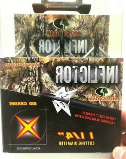 Mossy Oak Inflictor Slick Trick Arrowheads Broadheads 100 gr