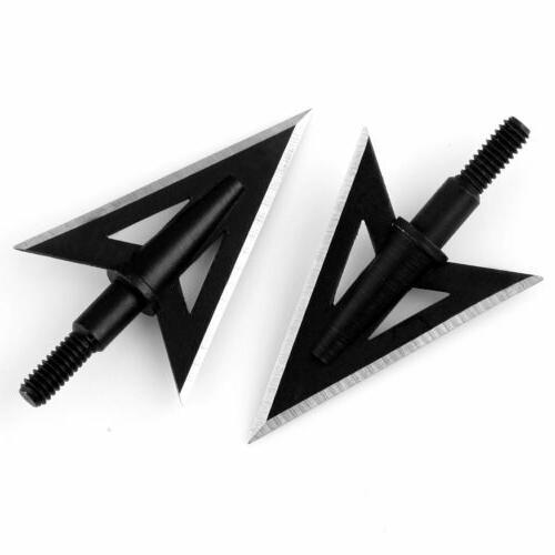 100 Broadheads 2 Fixed Sharp Blade Heads