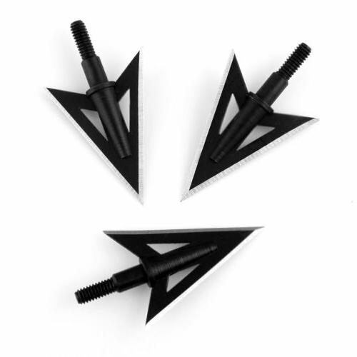 100 Broadheads 2 Sharp Blade Archery Heads