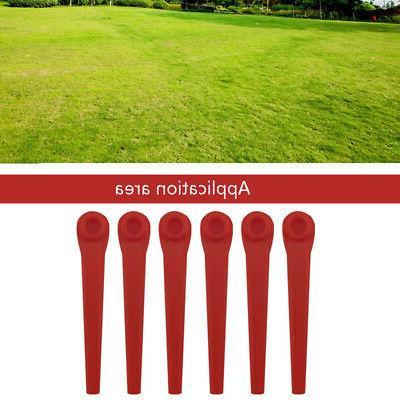 100Pcs Plastic Grass Blades Replacement Mower Blade