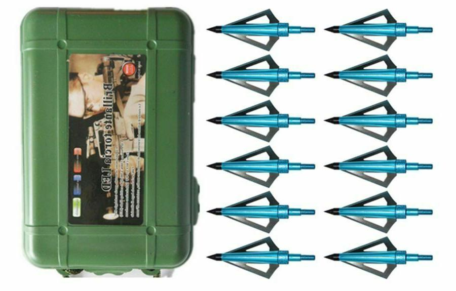12pcs archery broadheads 100 grain bowhunting arrow
