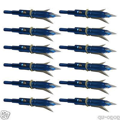 "12pcs Archery Broadheads 2.3"" Cut Arrowheads"