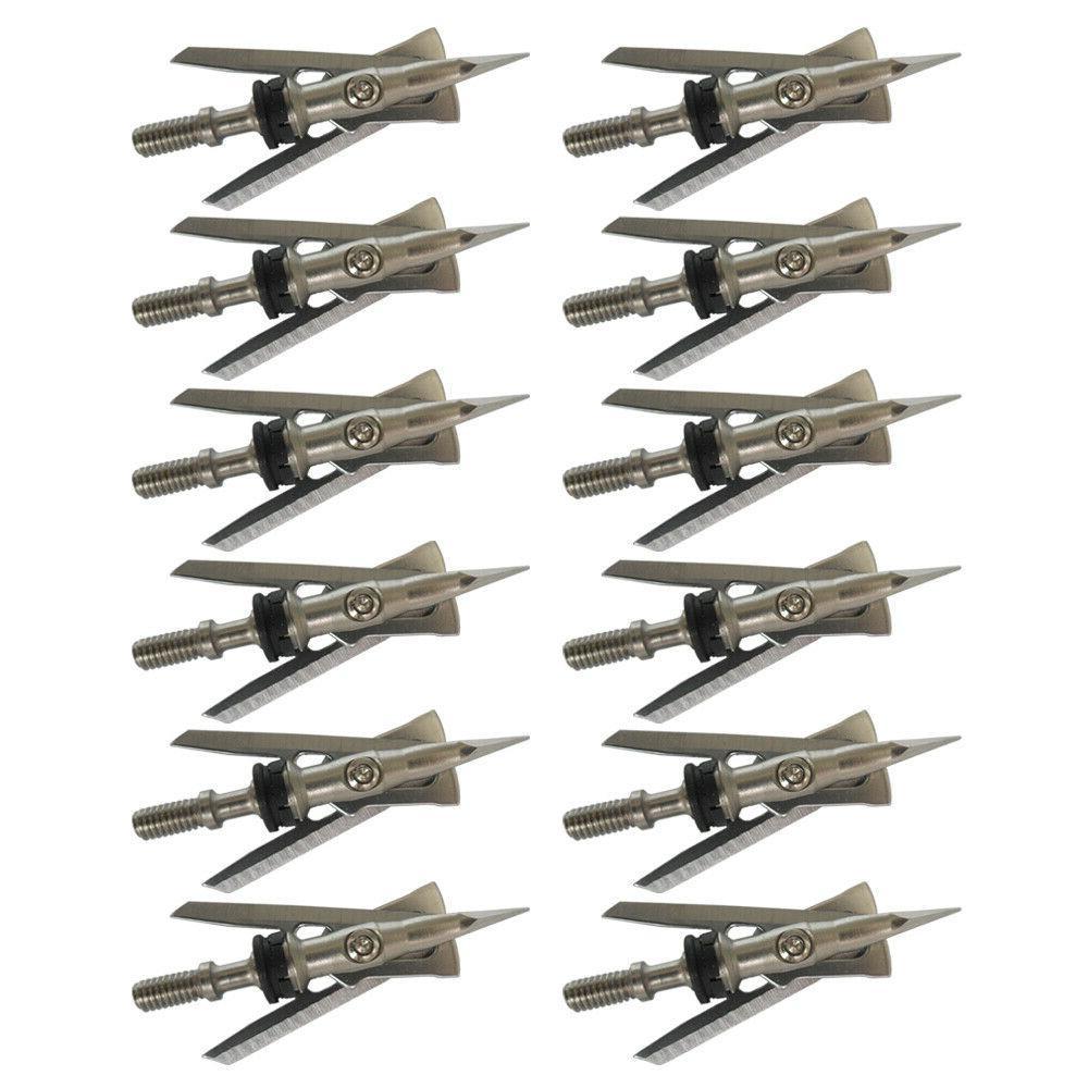 12pcs 2-blade Rage Broadheads grain Cut