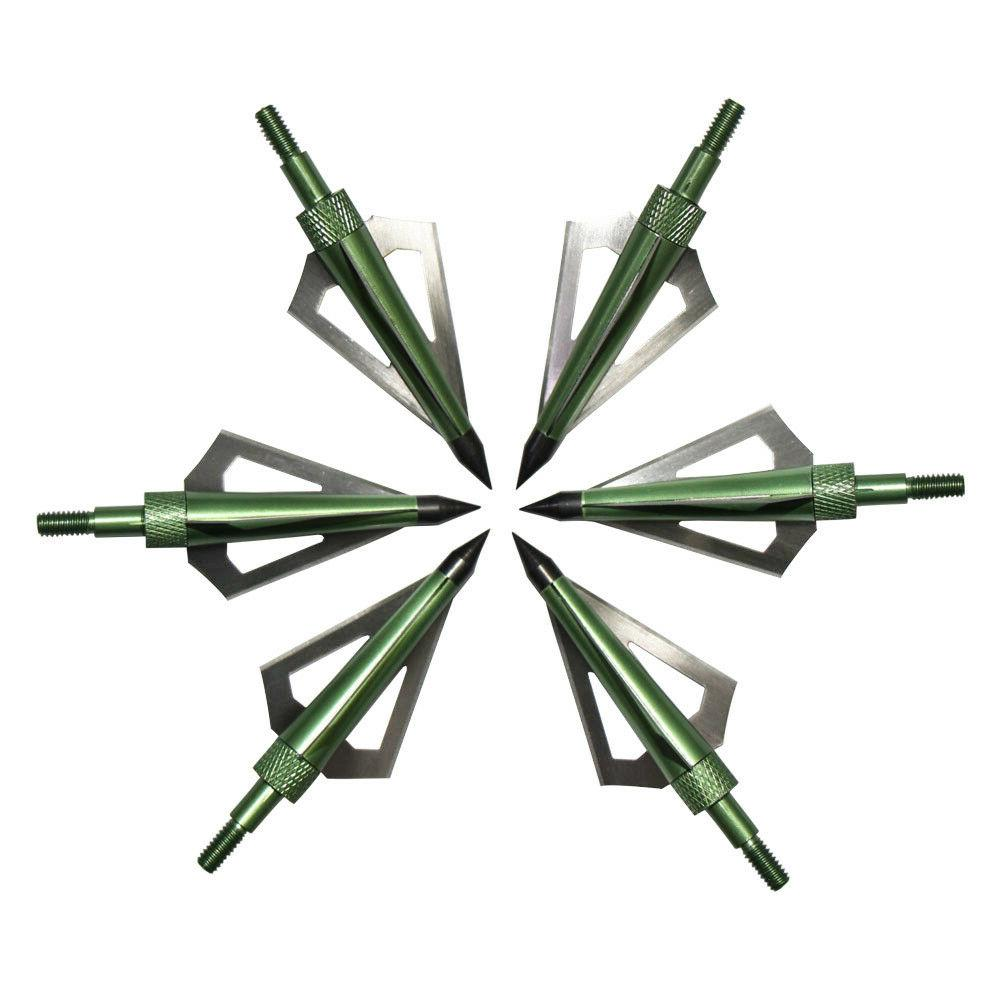 12Pcs Broadheads 3 Blade Compound Bow Crossbow Box