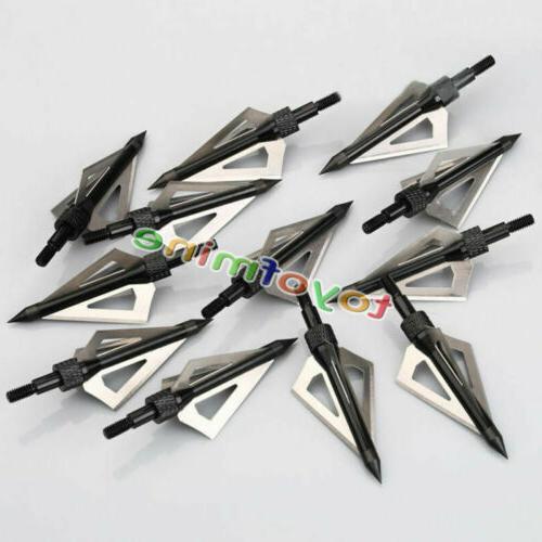 12Pcs Broadheads 100 Grain Blade