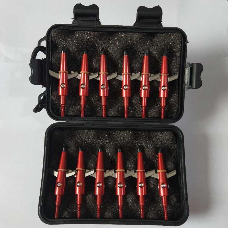 12Pcs Red/ 100Grain Black Case