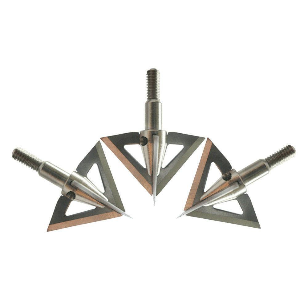 12Pcs Star Grain 4 Blade Compound Bow Tips