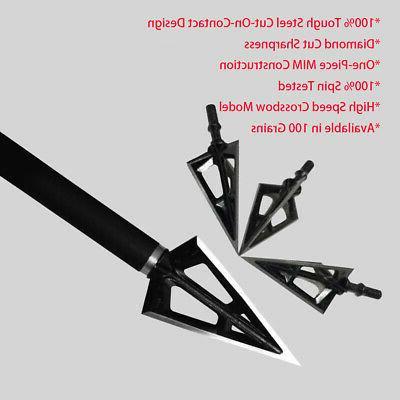 12PK 3 Fixed Blade Archery 100 Tips