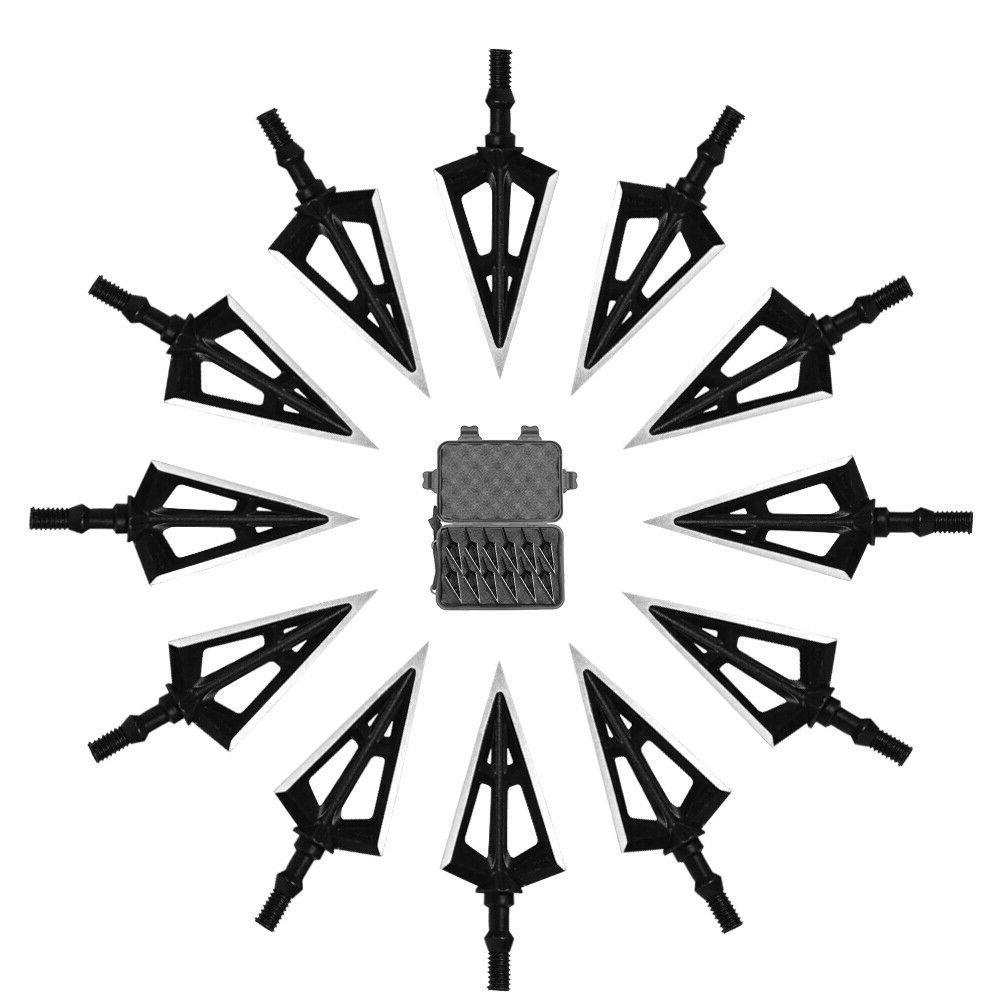 12PK Hunting Broadheads 100 One-Piece