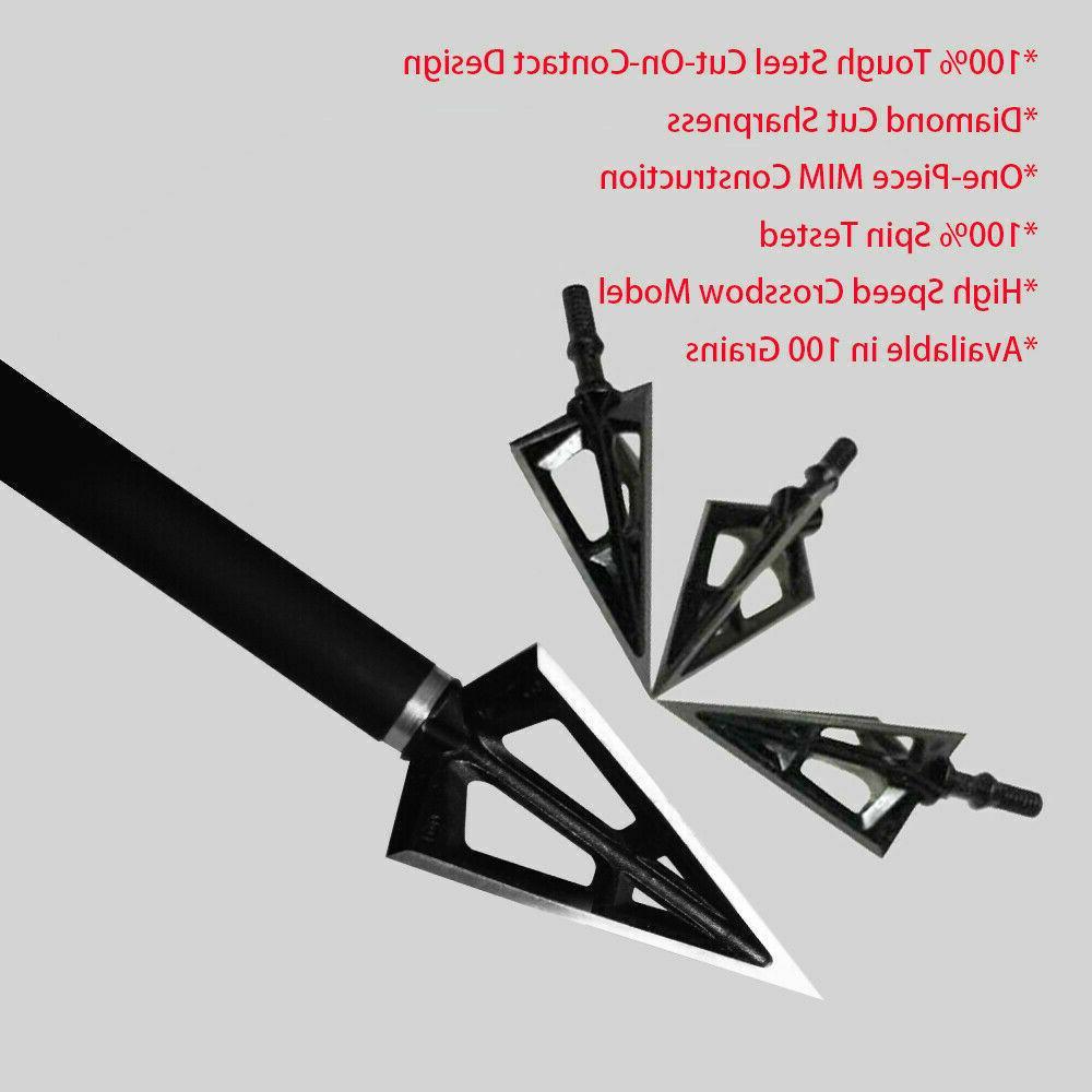 12PK 3 Fixed Hunting One-Piece Arrow