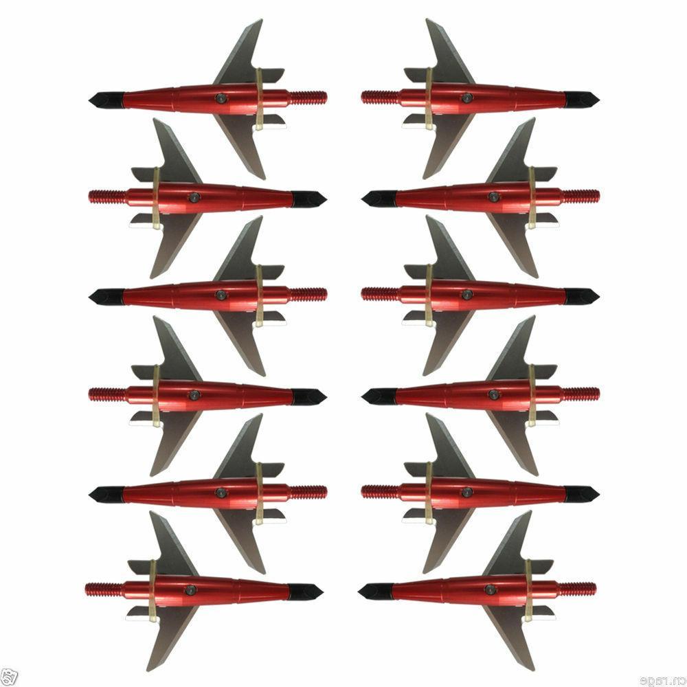 """12X 100Gr 1.75"""" Cut Arrow Tips Compound Crossbow"""