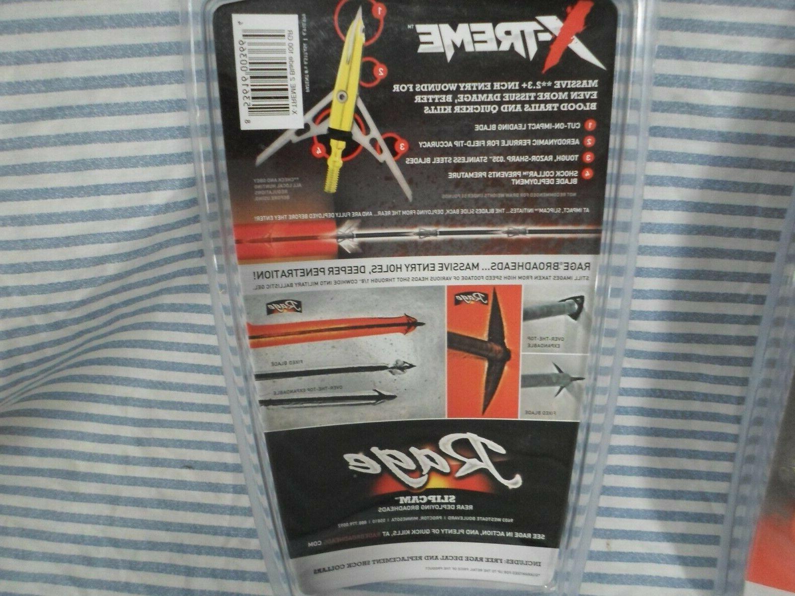 "2 packs Rage X-TREME Extreme 2.3"" Broadheads"