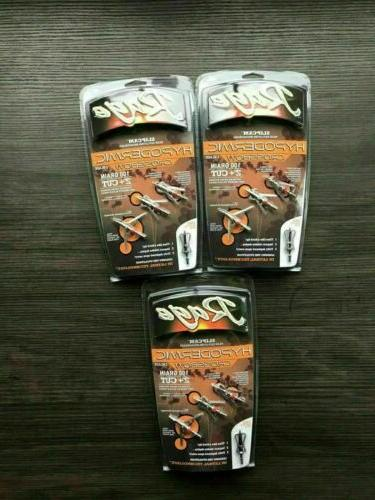 3 packs crossbow hypodermic broadheads 100 grain
