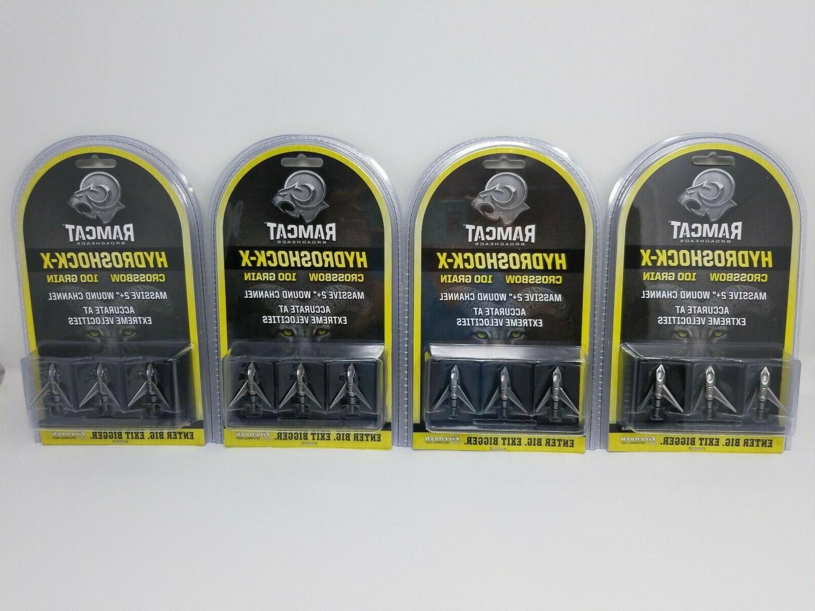 4 new hydroshock x crossbow broadhead pack