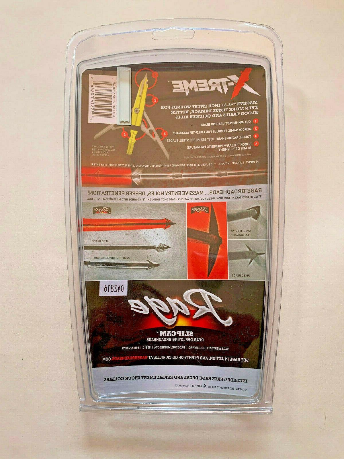 4 X-TREME Blade Cut Broadheads