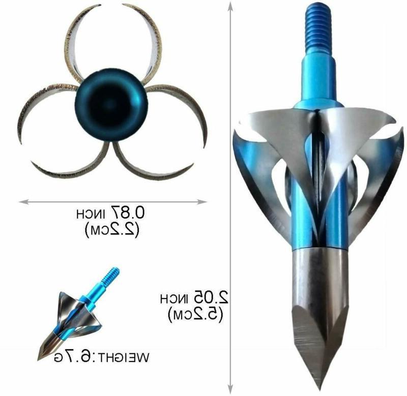 6/12pcs Crossbow Hunting Arrow Archery Tips 100 grain