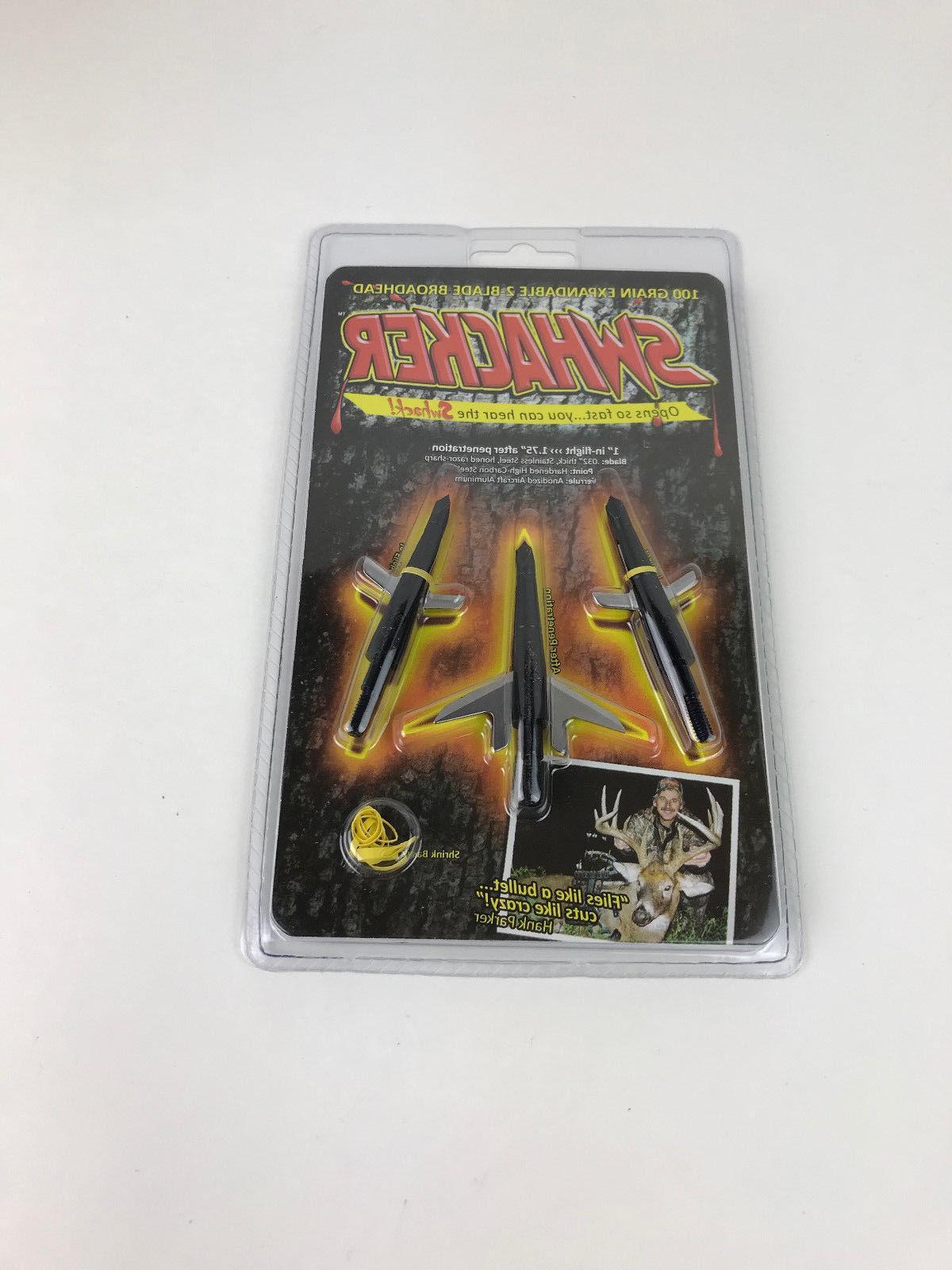Swhacker Archery Expandable Blade Broadheads 3 pack