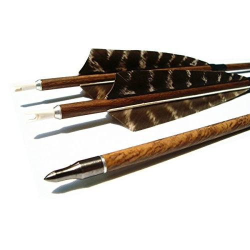 archery carbon arrows wooden grain
