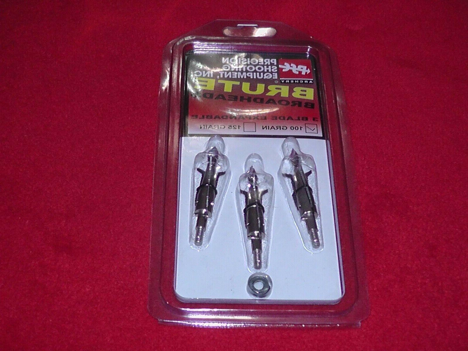 brute broadheads three blade mechanical 100 grain