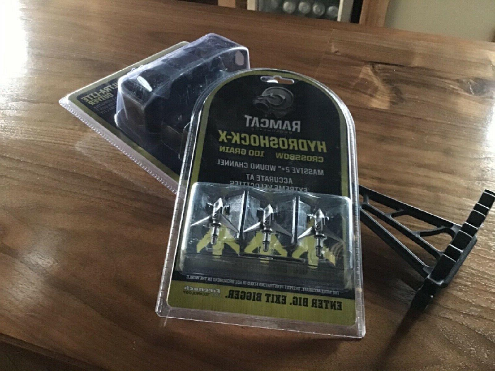 Ramcat Hydroshock-X Broadheads – Grain, Silver/Stainless Rear