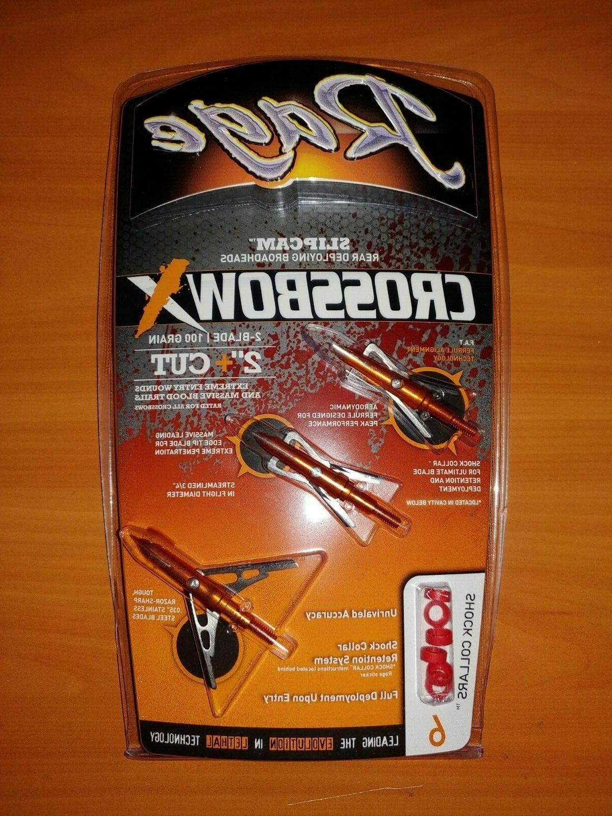 crossbow x slipcam broadheads 2 cut 100