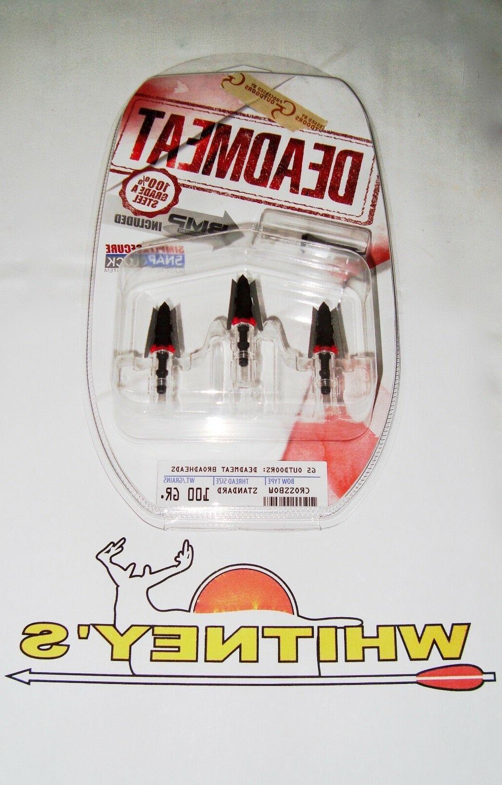 G5 DEADMEAT / DEAD MEAT - Crossbow Broadheads 100% - Grade A