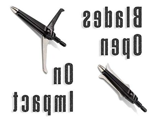 Cut 170 Grain 2-Blade Crossbow Mechanical Broadhead Pack