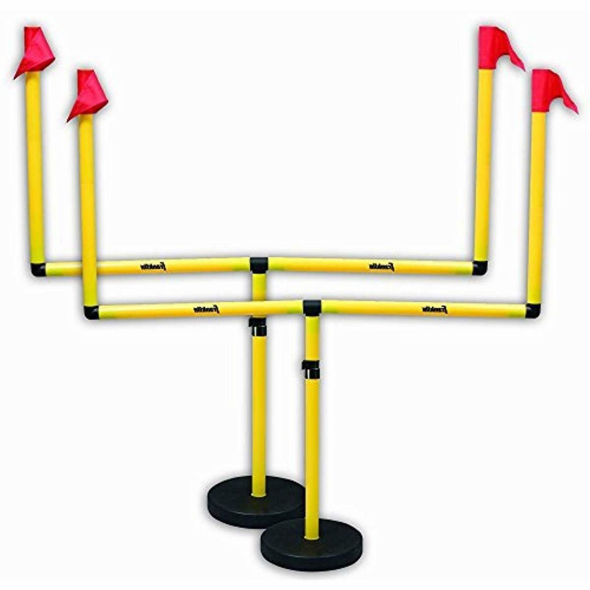 goal post set adjustable two football sports