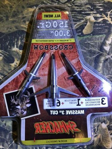 mechanical broadhead new 150gr 3 cut crossbow