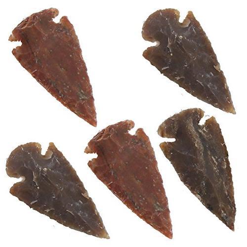 medieval flint agate arrowhead set