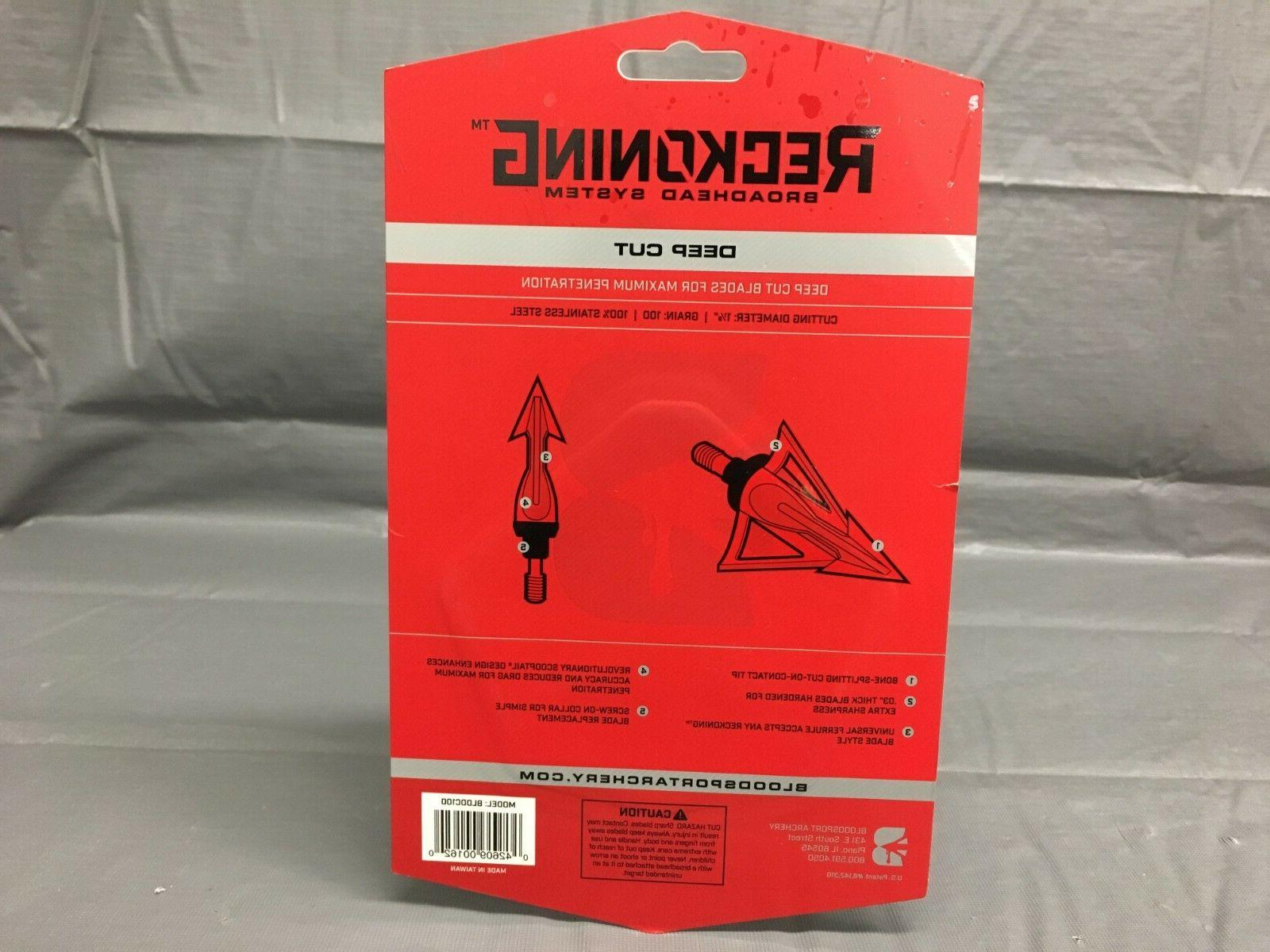 "NEW, BLOODSPORT 1-1/8"" CUT"