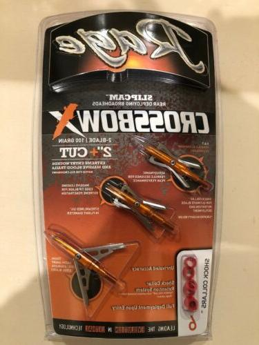 new crossbow x 2 blade mechanical broadhead