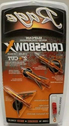new crossbow x broadheads 2 blade 100
