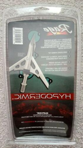 "NEW Rage 2 2"" Cut Broadheads +"