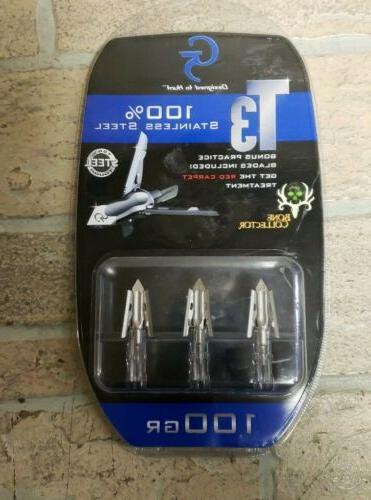 new t3 100gr broadheads