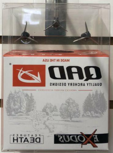 Quality Archery Designs-QAD- Exodus Swept Blades Broadhead -