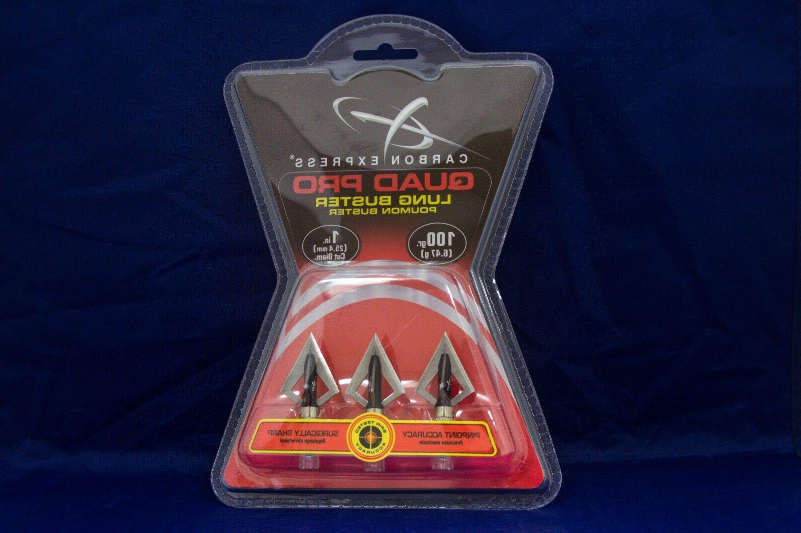 quad pro lung buster broadheads 3 pack