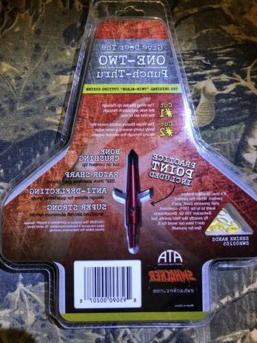 Swhacker Set of 3 - 100 Grain Cut Turkey Practice Head Inc