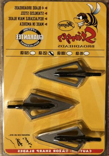 stinger broadheads 125 grain 4 blade 2