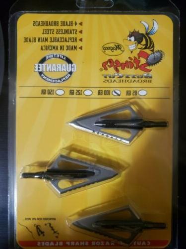 stinger buzzcut 100 gr 4 blade free