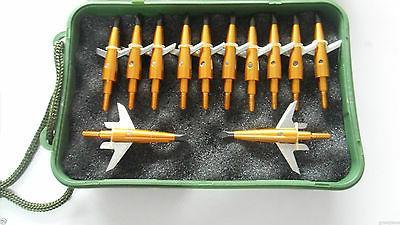 """12Pcs Swhacker Broadheads 100Grain 1.75"""" Tips 1 Bow Crossbow"""
