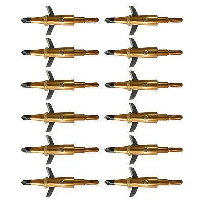 """12Pcs Swhacker Broadheads 1.75"""" Tips 1 Crossbow"""