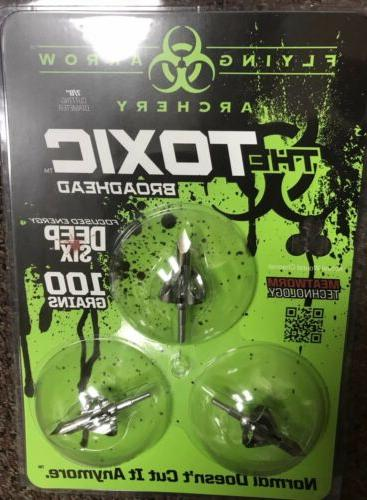 toxic broadheads deep six 100 grain new