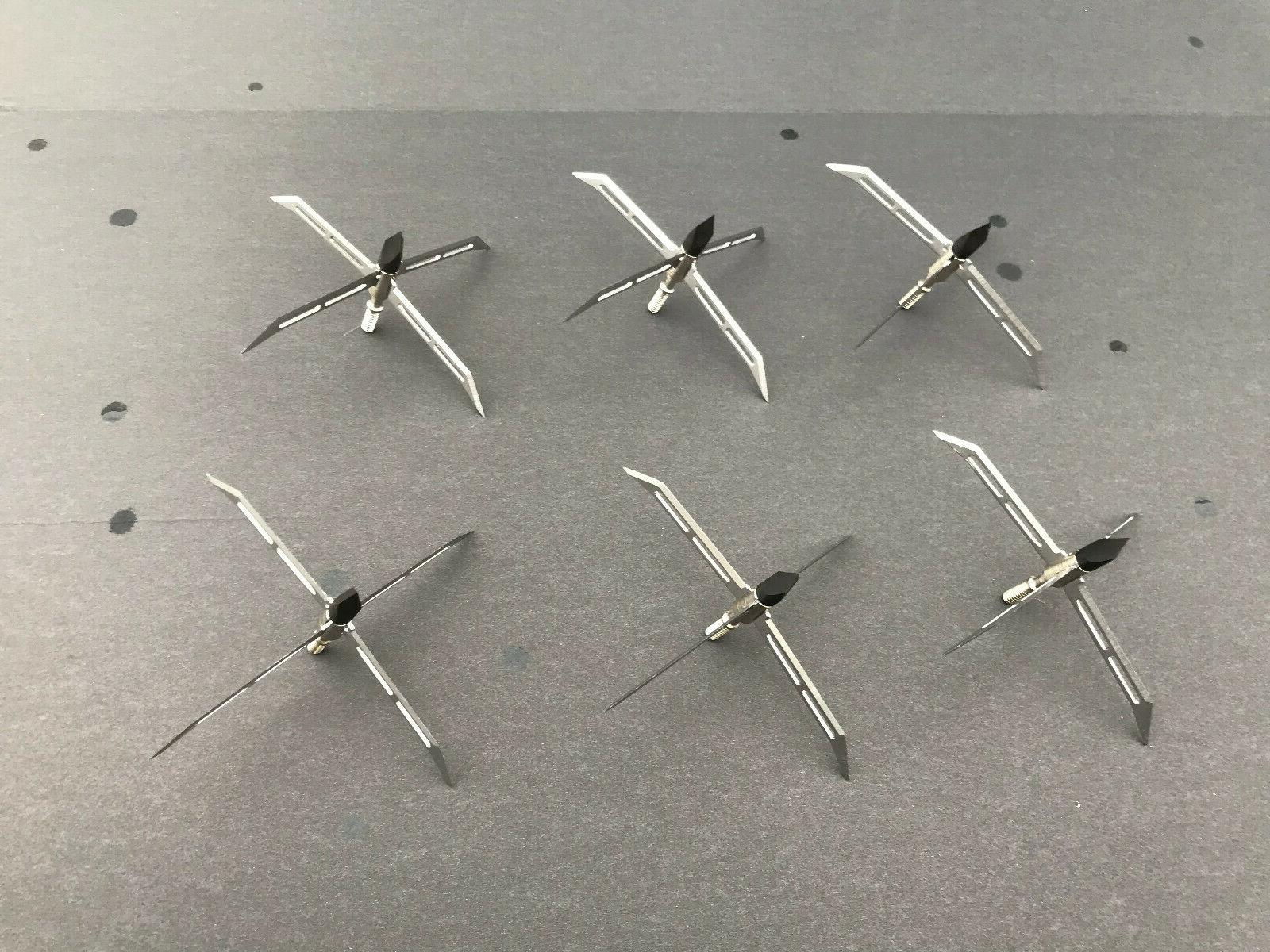 12pcs Broadheads Grain 3 Blade Arrow Screw Tips