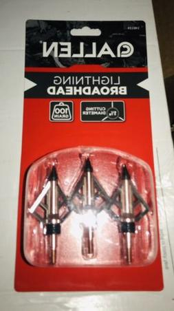 Allen Lightning  Broadhead 14612a 100 Grain 3 Pack Brand New