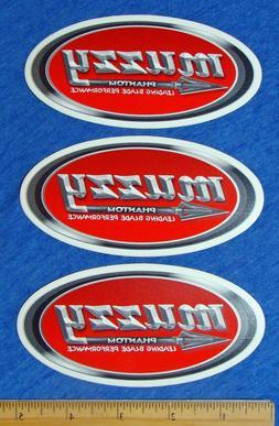 Lot of 3 Muzzy Stickers Hunting Phantom Broadhead Archery Bu