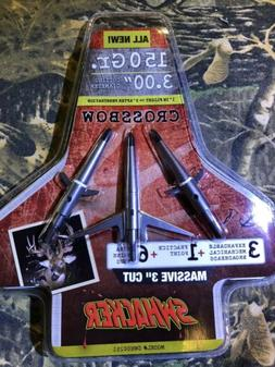 "Swhacker Mechanical Broadhead New 150gr 3""  Cut Crossbow 2 b"